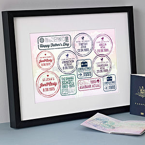 Personalised Special Dates Passport Print - shop by price