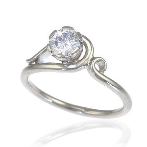 Diamond Art Nouveau Style Ring In 18ct Gold - wedding jewellery