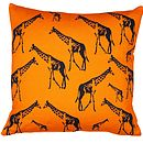 Giraffe Parade Cushion