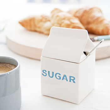 Ceramic 'Sugar' Carton Bowl