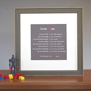 Personalised Father's Print