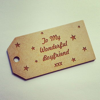 Individual Personalised Wood Gift Tags