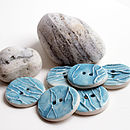 Textured Turquoise Ceramic Buttons