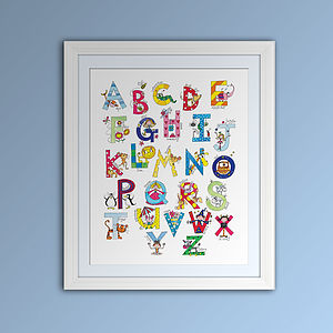 Children's Fine Art Alphabet Print - posters & prints