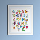 Children's Fine Art Alphabet Print