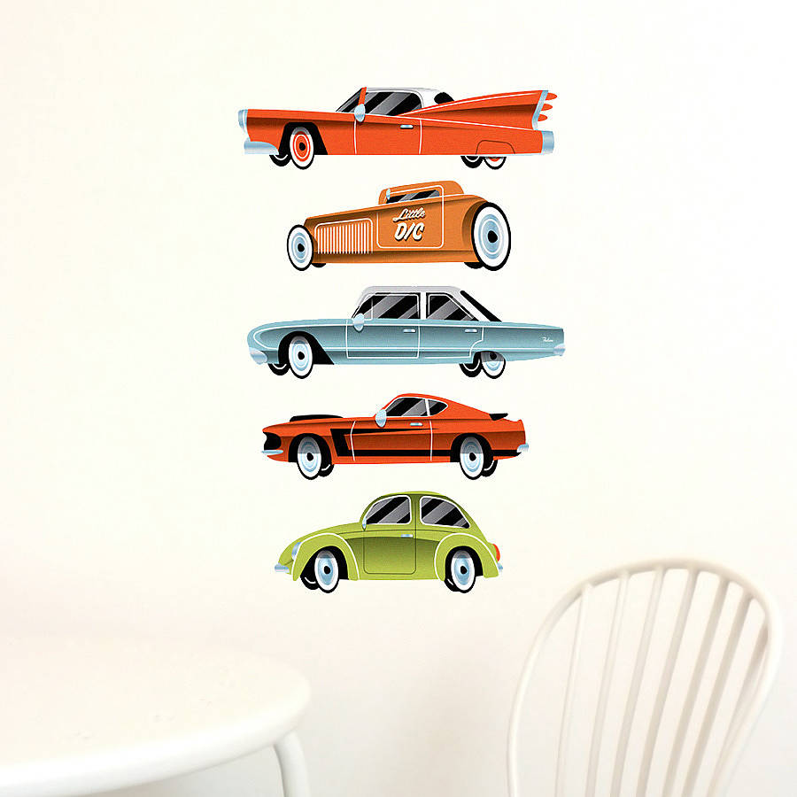Vintage Cars Wall Stickers Part 95