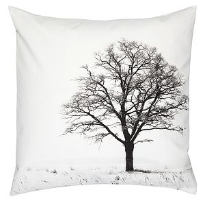 Organic Cotton Winter Tree Cushion - cushions
