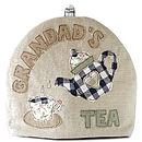 personalised grandad's tea cosy, blue