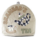 personalised grandad's tea cosy, blue