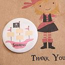 pirate ship badge