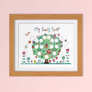 Children's Fine Art Family Tree Print