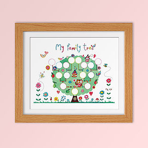 Children's Fine Art Family Tree Print - posters & prints