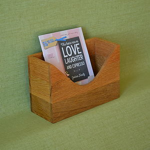 'To Do' Personalised Oak Letter Holder - magazine racks