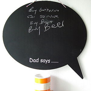 Personalised Speech Bubble Chalkboard - kitchen