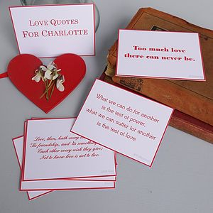 Love Quotes - valentine's cards