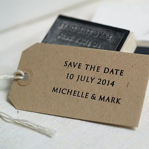 'Save The Date' Stamp - wedding stationery