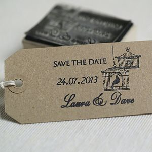 Personalised Save The Date Rubber Stamp - wedding stationery