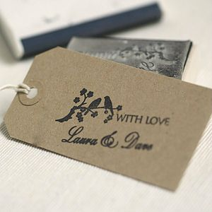 Personalised Wedding Favours Stamp - card-making & stationery