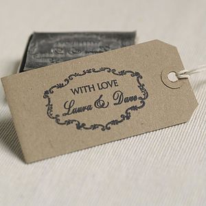 Personalised Wedding Favours Rubber Stamp - card-making & stationery