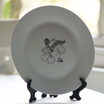 Personalised Fairy Girls Plate Gift