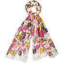 Large 'Rose Garden' Pure Silk Scarf