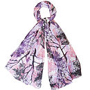 Large 'Enchanted Wood' Pure Silk Scarf