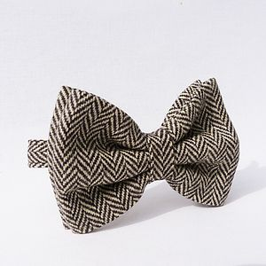 Tweed Oversized Bow Tie - ties