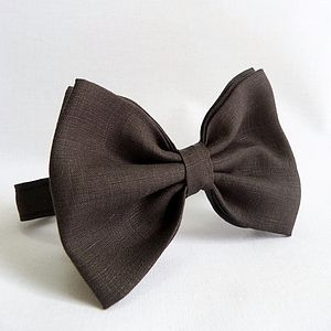 Linen Oversized Bow Tie - ties