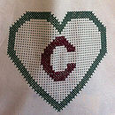 Large Heart Tote Bag Cross Stitch Kit