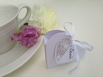 20 Chocolate Heart Wedding Favours
