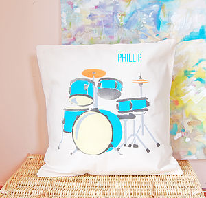 Personalised Drum Kit Cushion - cushions