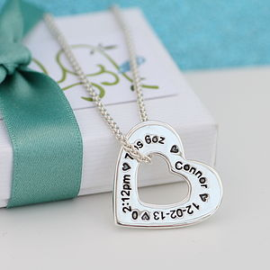 Personalised Silver Heart Pendant For Mummy - necklaces & pendants