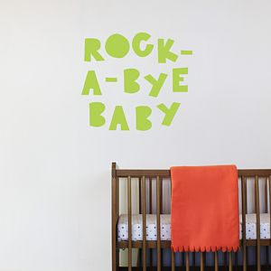 'Rock A Bye Baby' Nursery Wall Sticker