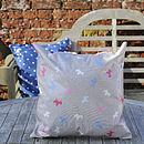 Oily Rag Mini Scotty Dog Outdoor Cushion