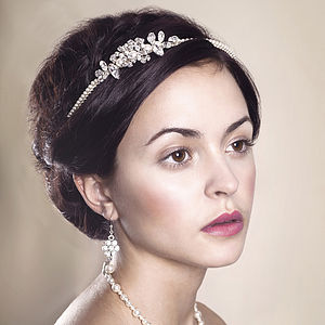 Handmade Delphine Wedding Headpiece - hair accessories