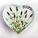 Personalised Lavender Heart Plate