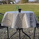 Oily Rag Spotty Oilcloth Tablecloth