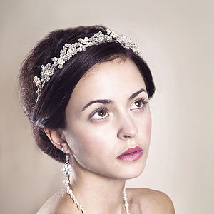 Handmade Eveline Wedding Tiara - bridal hairpieces
