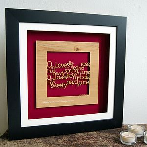 Personalised 'A Red Red Rose' Wall Art - shop by price