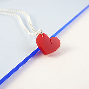 Acrylic Heart Necklace - necklaces & pendants