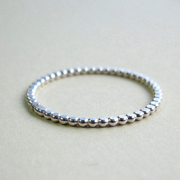 Dotted Sterling Silver Stacking Ring