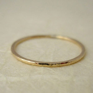 Gold Fill Stacking Ring - rings