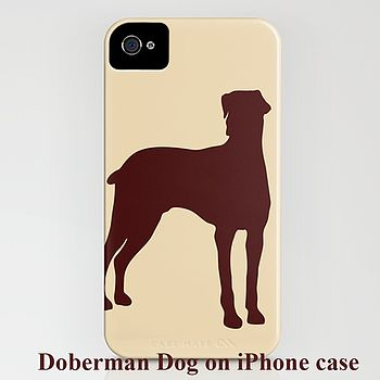 Doberman Dog With Natural Ears On IPhone Case