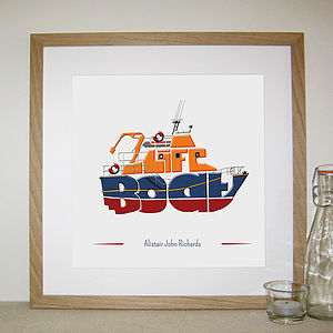 Personalised Lifeboat Print