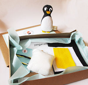 Make Your Own Penguin Softie Toy Sewing Kit - toys & games
