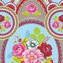 Floral Medallion Beach Towel By Pi P Studio