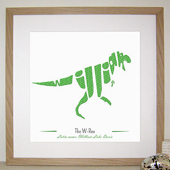 Personalised T Rex Picture