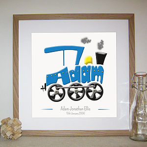 Personalised Train Picture - nursery pictures & prints