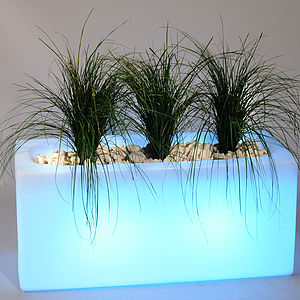 Illuminated Outdoor Light Planters - drink & barware