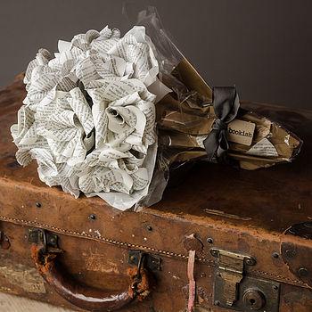 Dozen Literary Paper Roses Bouquet